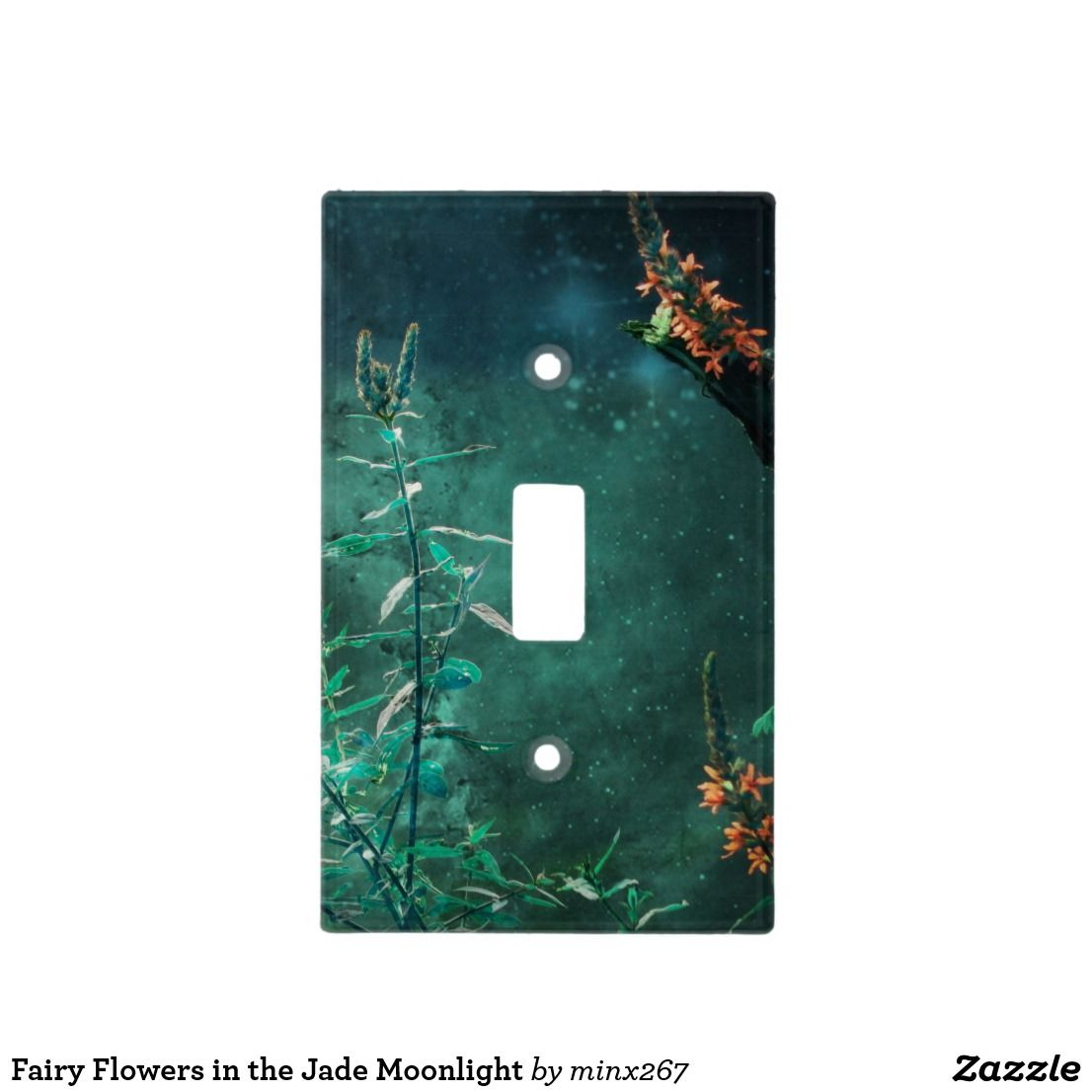 Fairy Flowers In The Jade Moonlight Light Switch Cover Bathroom