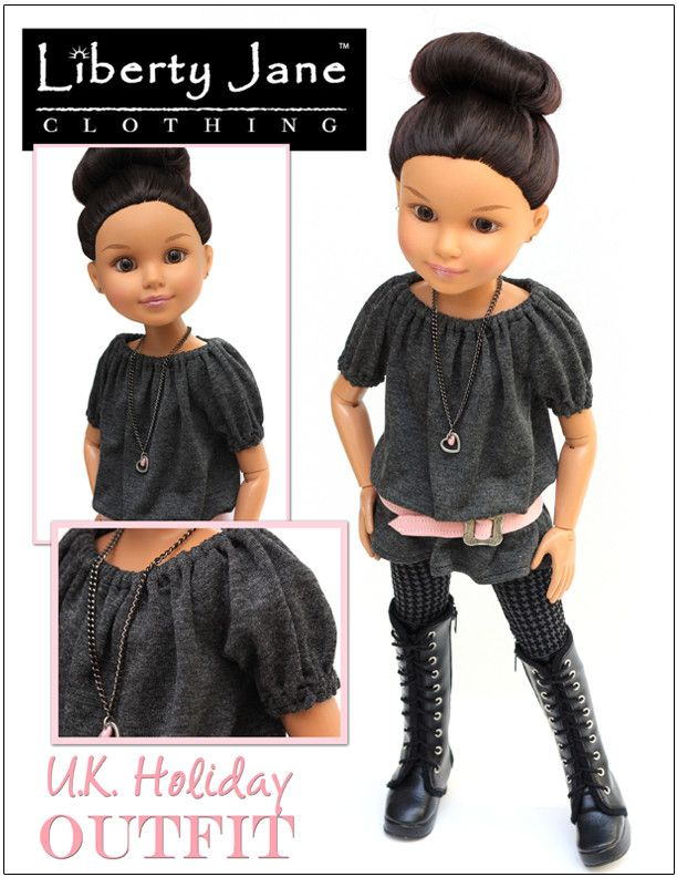 U.K. Holiday Outfit for BFC, Ink. Dolls