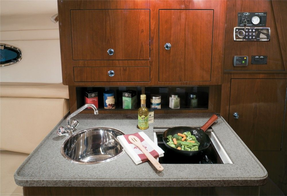 Regal 30 Express The galley features a stainless sink and