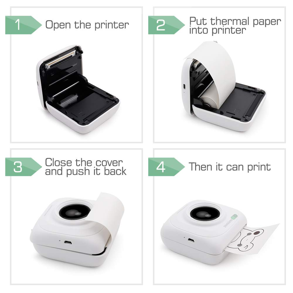 Us 43 98 2020 Hot Sales 50 Off Portable Smart Photo Printer M Miupie Com In 2020 Mini Printer Photo Printer Portable Photo Printer