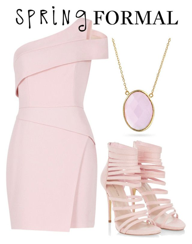 """One-Shoulder Dress"" by kkai ❤ liked on Polyvore featuring BCBGMAXAZRIA and Bling Jewelry"