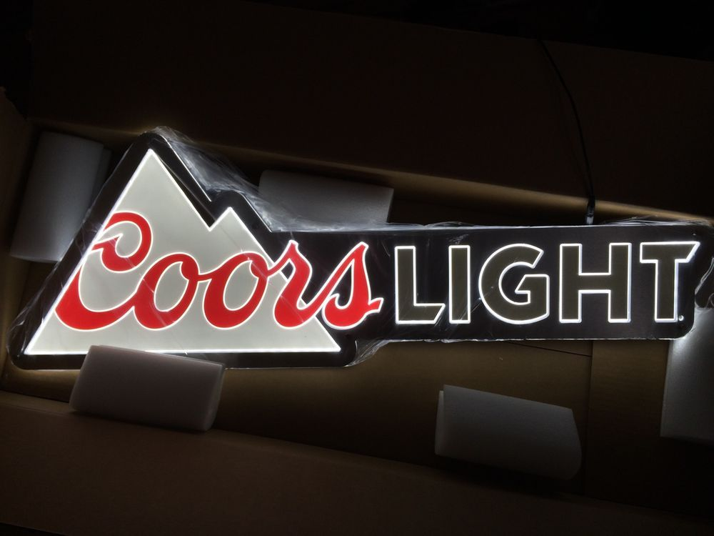 Coors light beer equity led light bar sign man cave pub 40 x 135 coors light beer equity led light bar sign man cave pub 40 x 135 aloadofball Images