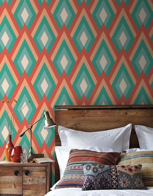 Amp Up Your Walls With Geometric Wallpaper