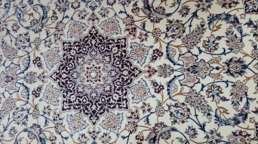 Persian blue area rug with a silky feel textures patterns