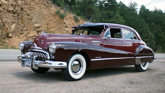 1948 Buick Roadmaster Straight Eight Automatic Presented As Lot S81 At Denver Co 2015 Image1 Buick Roadmaster Buick Classic Cars