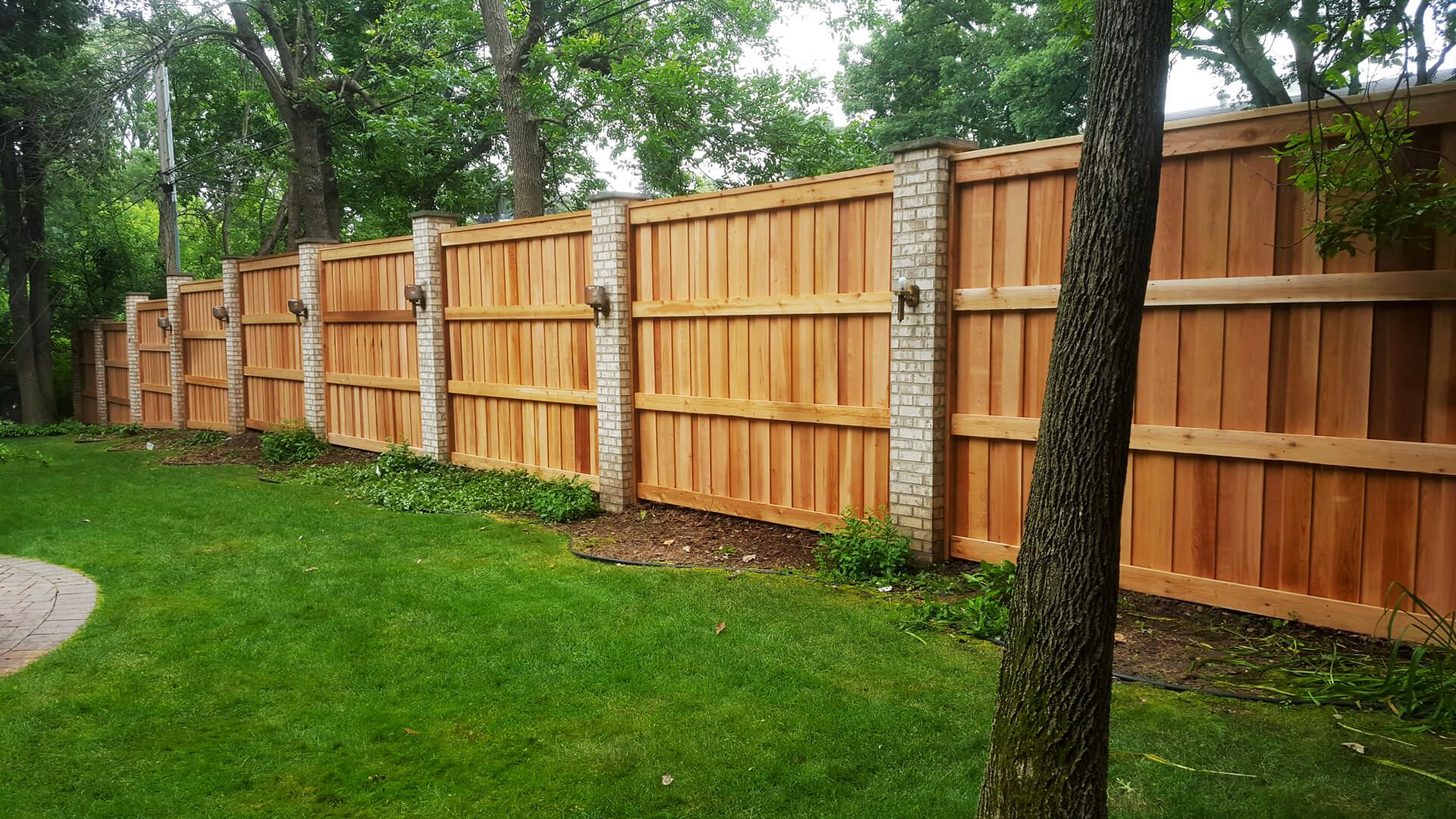 How To Build A Wood Fence On Uneven Ground Wood Fence Design Wood Fence Privacy Fence Panels
