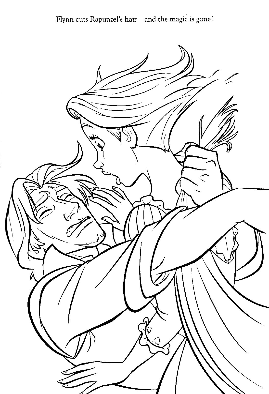 tangled coloring pages google sgning