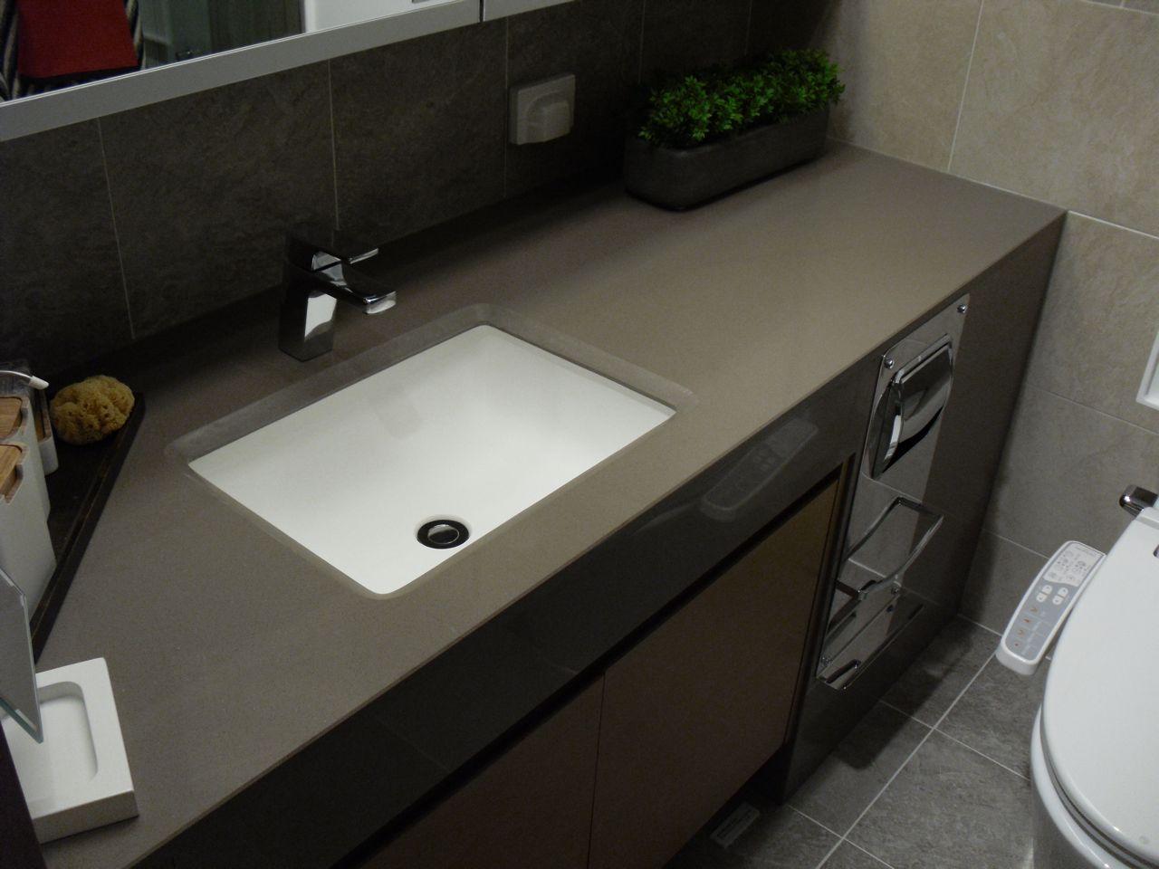 Gray Quartz Bathroom Counter   ... Kitchen Trends U2013 Clean And Monotone  Looking Kitchen