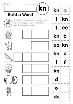 Digraph KN: Phonics Word Work {Multiple Phonograms