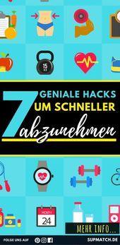 7 geniale Tricks zum Abnehmen - # #geniale Tricks # # verringern   - Fitness - #... - #abnehmen #fit...