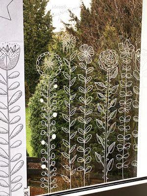 DIY Frühlings-Fensterdeko mit Kreidemarker * Spring chalk painting