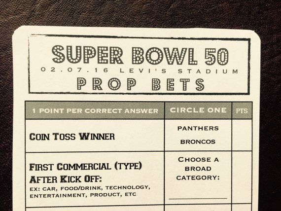 image regarding Printable Super Bowl Prop Bets named 2019 Tremendous Bowl 53 Prop Wager Pool Video game // Patriots + Rams