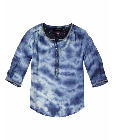 Iconic Tunic With Beaded Collar > Womens Clothing > Tops & T-shirts at Maison Scotch - Official Scotch & Soda Online Fashion & Apparel Shops