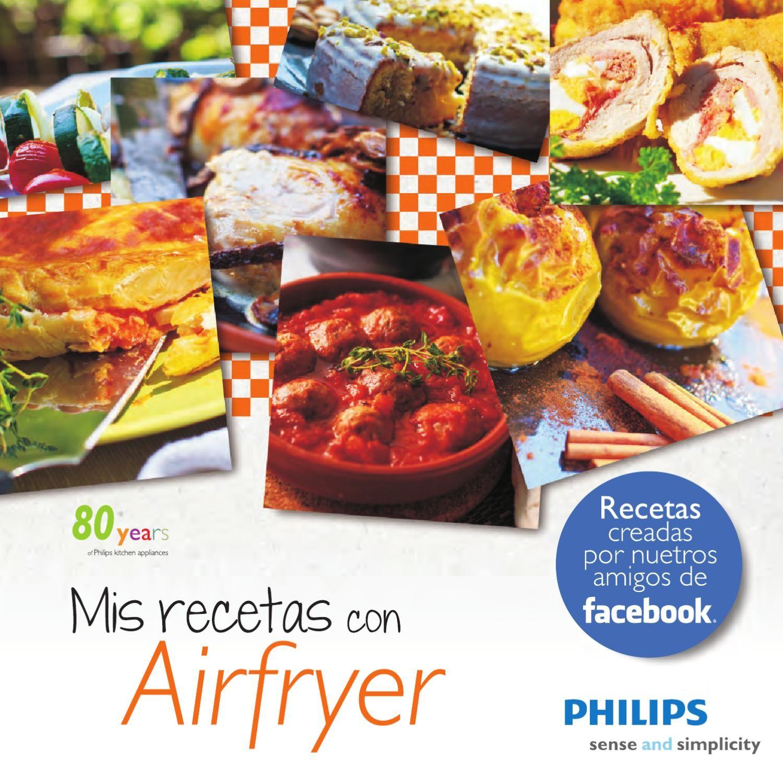 Libro de recetas de cocina española con Philips Airfryer   Recetas ...
