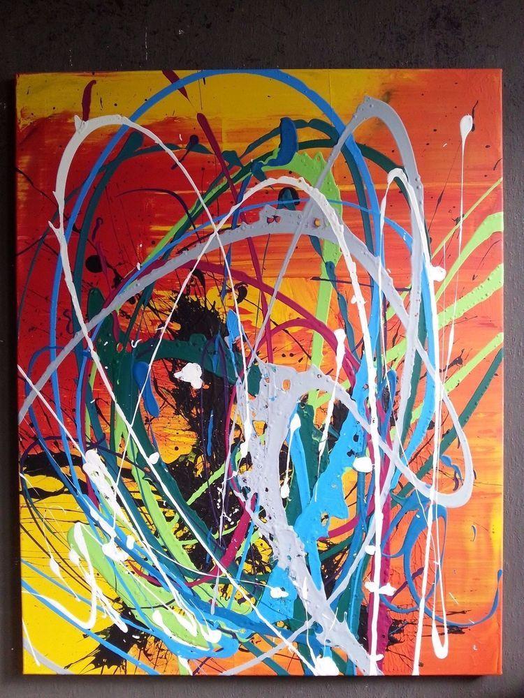 XL Bild Abstrakt Acryl Bilder Modern Gemälde Kunst Original Deko Wandbild