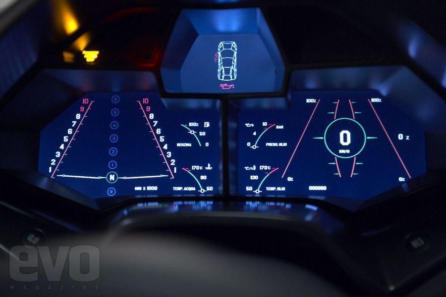 Lamborghini Reventon Aviation Inspired Theme Car Dashboards