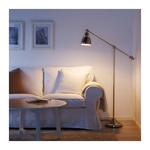 BAROMETER Floor/reading Lamp With LED Bulb, Nickel Plated