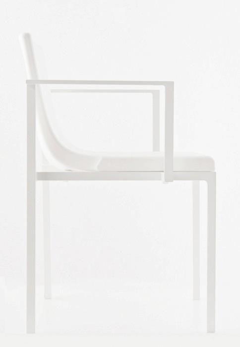 Simple White Chair Meuble