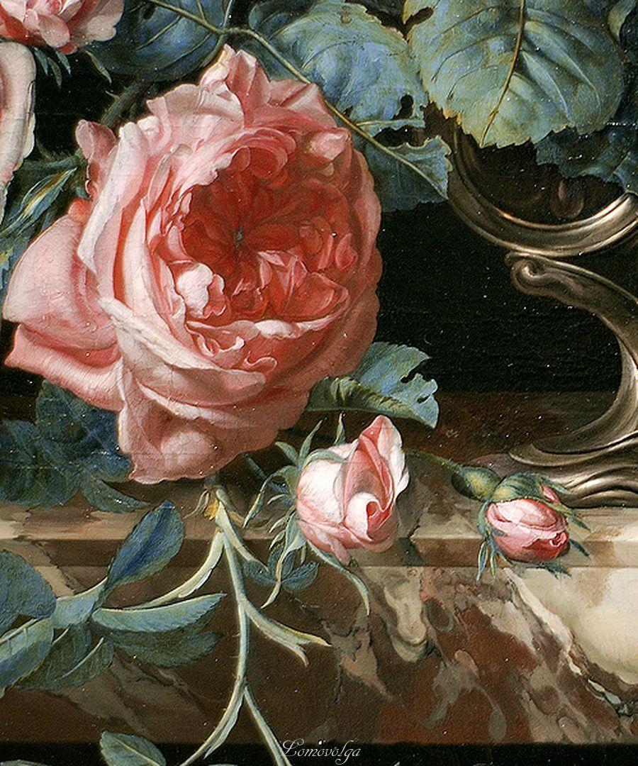 Willem van Aelst - Flowers in a Silver Vase (1663)