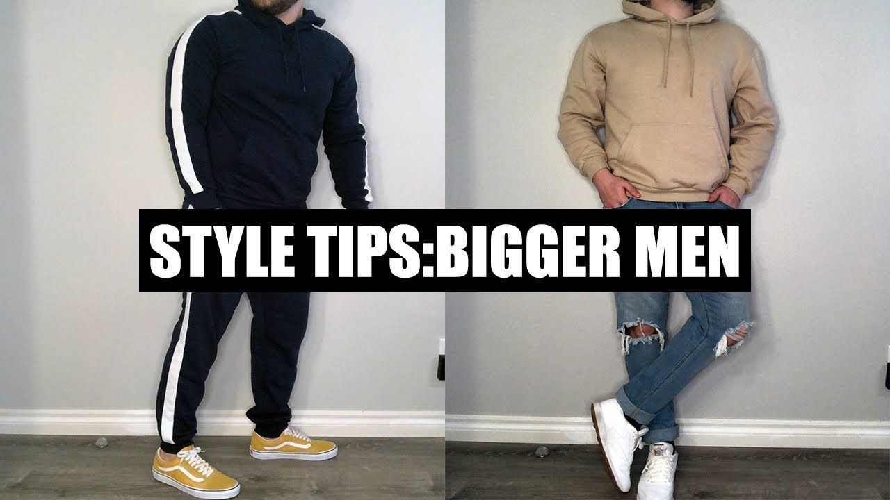 5 More Style Tips For Big Guys Clothing Tips For Big Guys Big Men Fashion Minimalist Outfit Men Mens Outfits [ 720 x 1280 Pixel ]