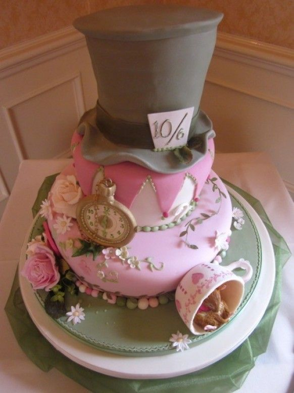 Alice In Wonderland Wedding Shower Cake Idea Alice In Wonderland