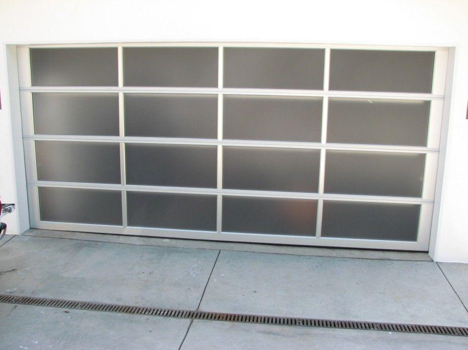 Garage Door Clopay Avante Clear Anodized Aluminum Frame