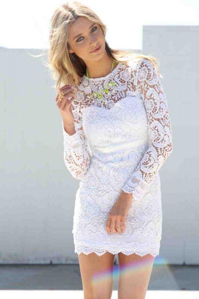 Short White Dresses For Wedding Reception Wedding