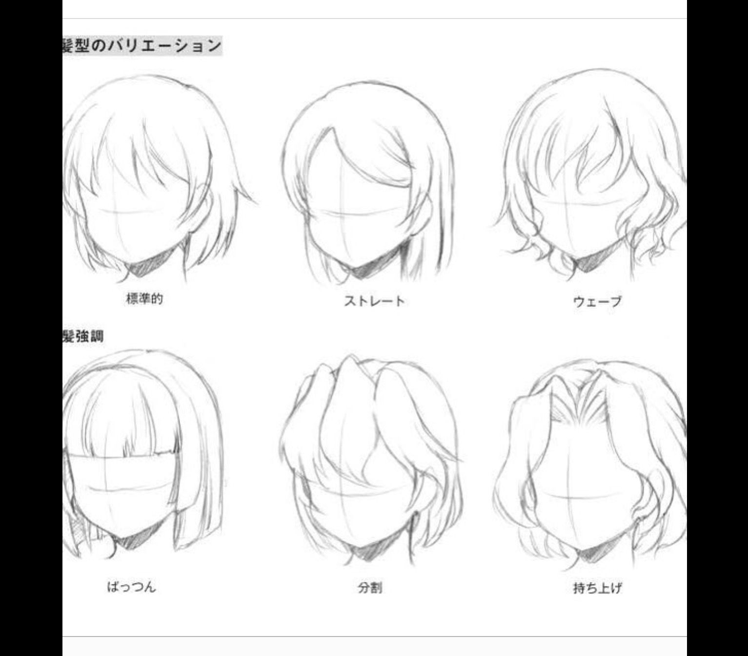 how to draw bangs anime