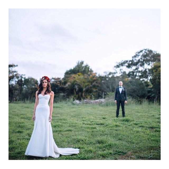 Stunning realbride in our 'Prea' gown.