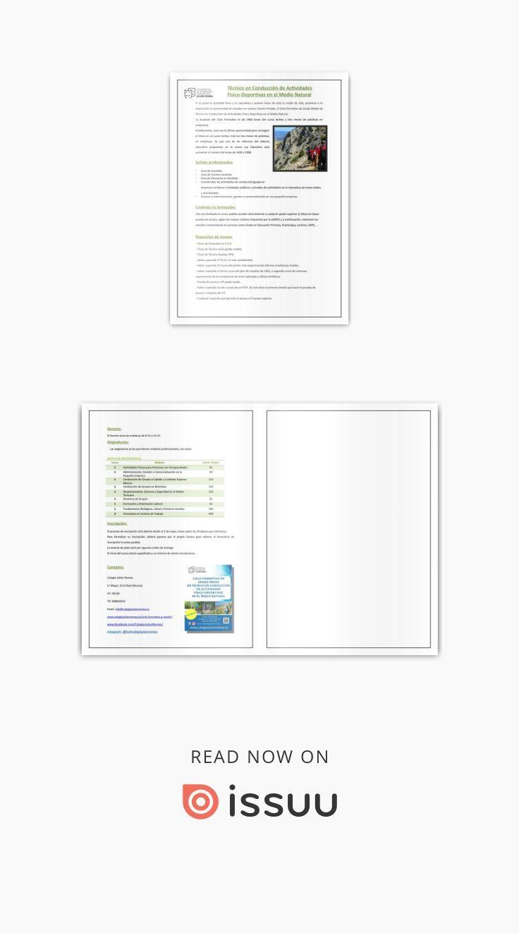 Información Cilo Formativo Ciclo Formativo De Grado Medio