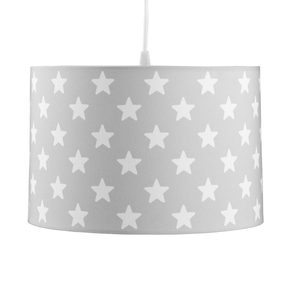 Die Kinderzimmerlampe von Kids Concept in grau mit weißen Sternen ...