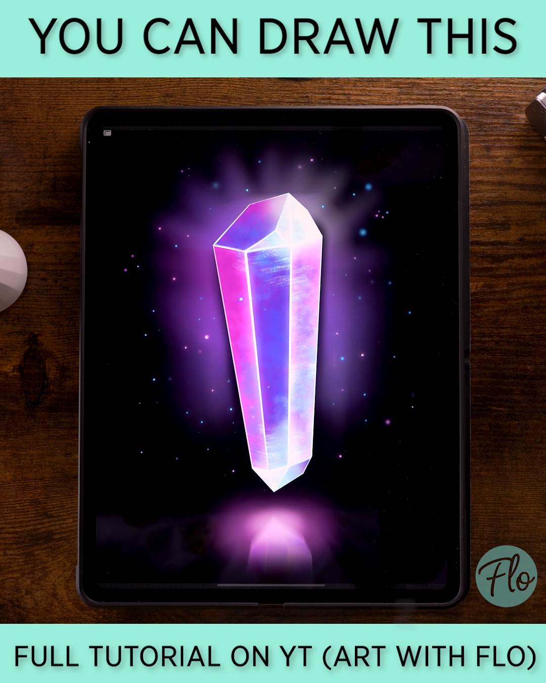 You Can Draw This Crystal in Procreate