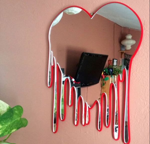 Melting heart mirror is part of Room decor -