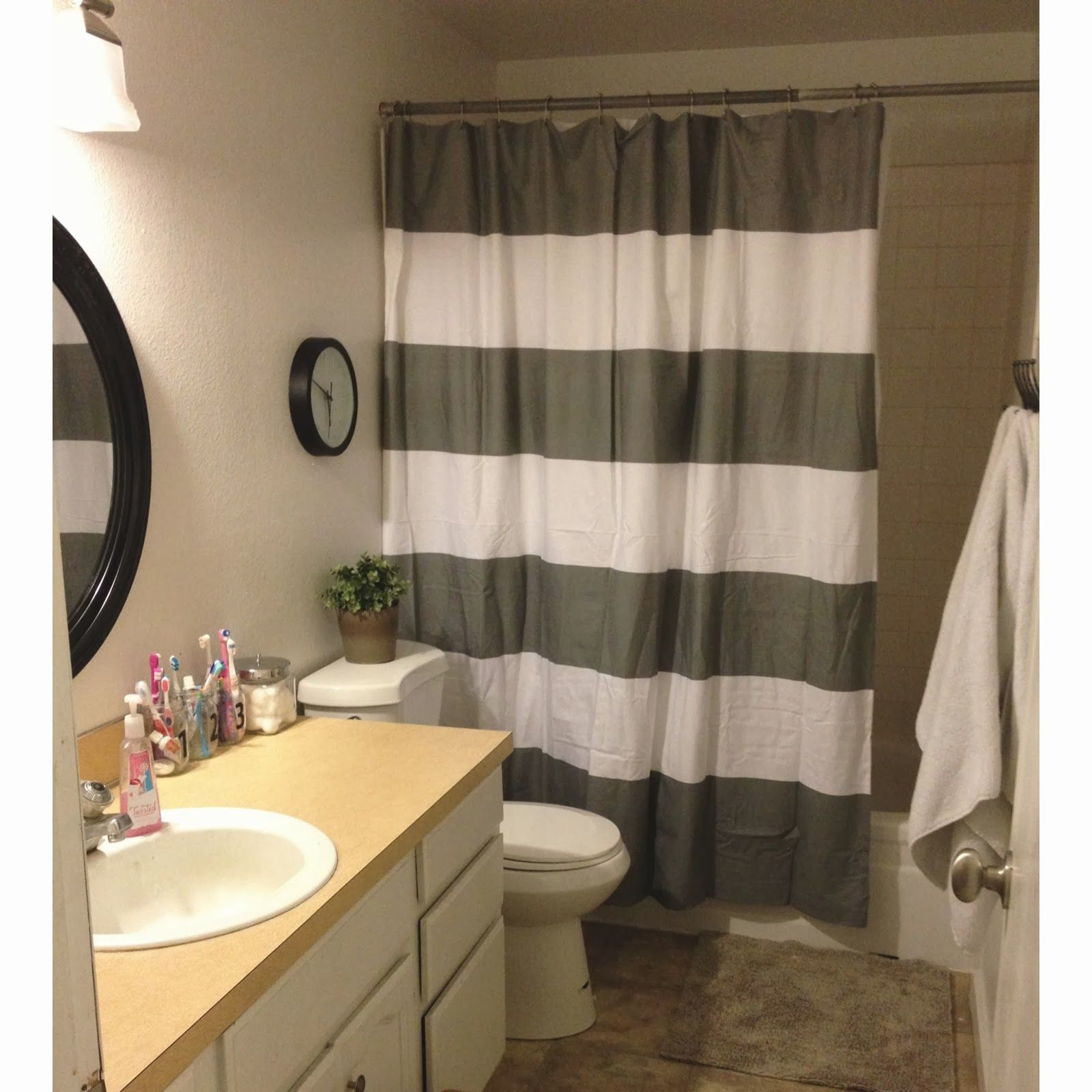 split shower curtain ideas. Keep Home Simple: Our Split Level Fixer Upper Shower Curtain Ideas L