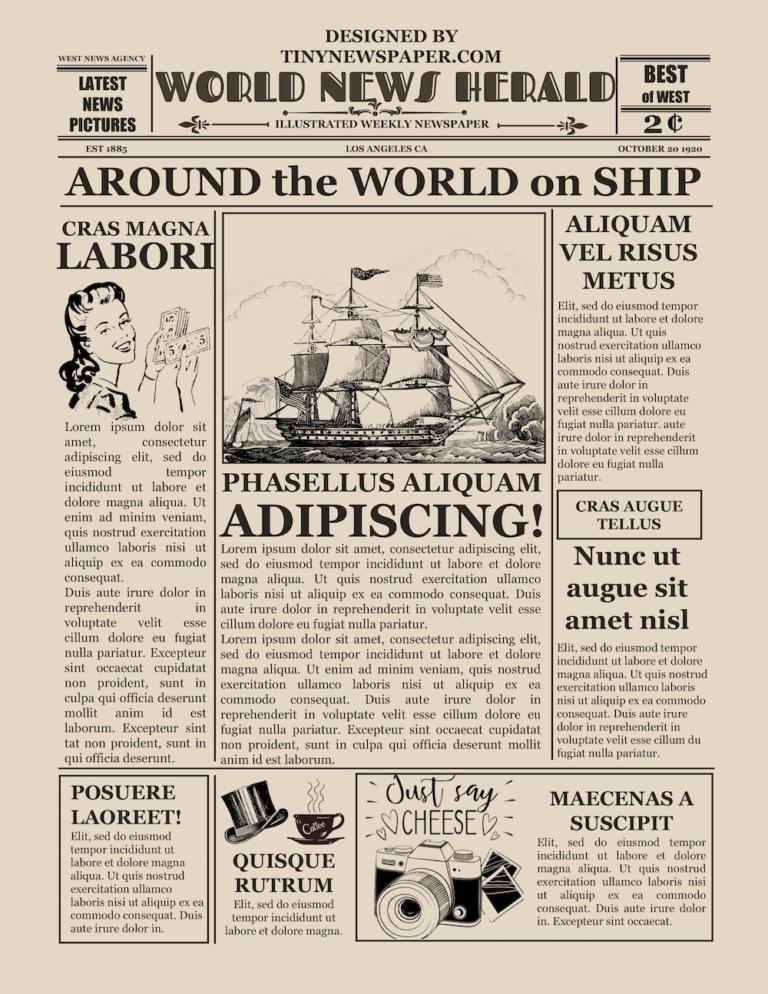 vintage newspaper flyer template word google docs free. Black Bedroom Furniture Sets. Home Design Ideas