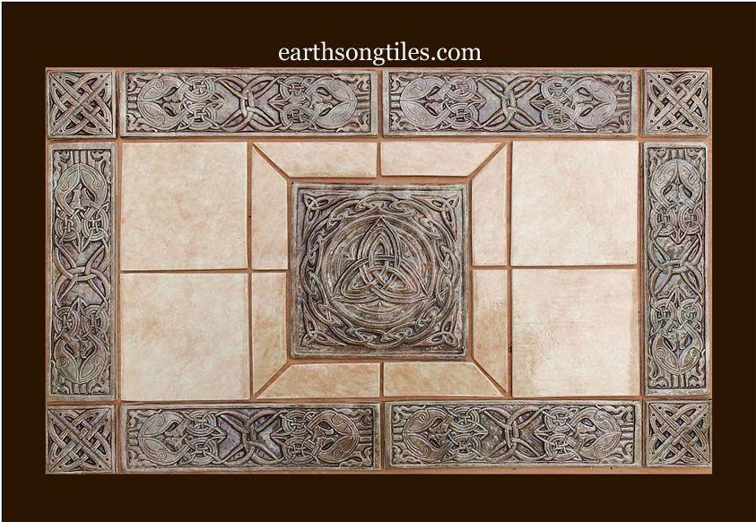Handmade Celtic Ceramic Tile Set By Earthsongtiles Http