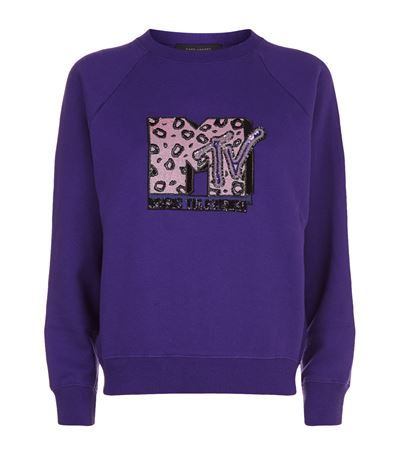 MARC JACOBS Embellished MTV Logo Sweatshirt. #marcjacobs #cloth #