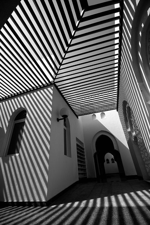 Black & White. Shadow Lines by Abdulla Zaid, United Arab Emirates. #togally #photography