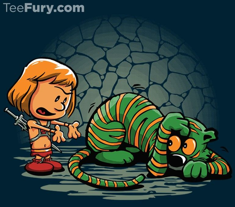 Imaginary pet tigers aren't always ready to just spring into action, but may require a kick in the rear in the form of a  blast of magical power, or simply some positive reinforcement. @teefury