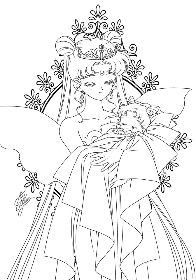 Pin By Loisanne Serenity Lewis On Malvorlagen In 2020 Sailor Moon Coloring Pages Sailor Mini Moon Sailor Moon Background