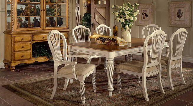 Comedor decapado en blanco decoraci casa pinterest - Muebles decapados en blanco ...