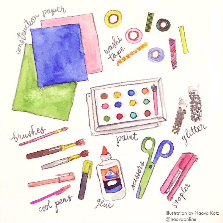 Craft Supplies Illustration Of Art Supplies Illustrated Supplies