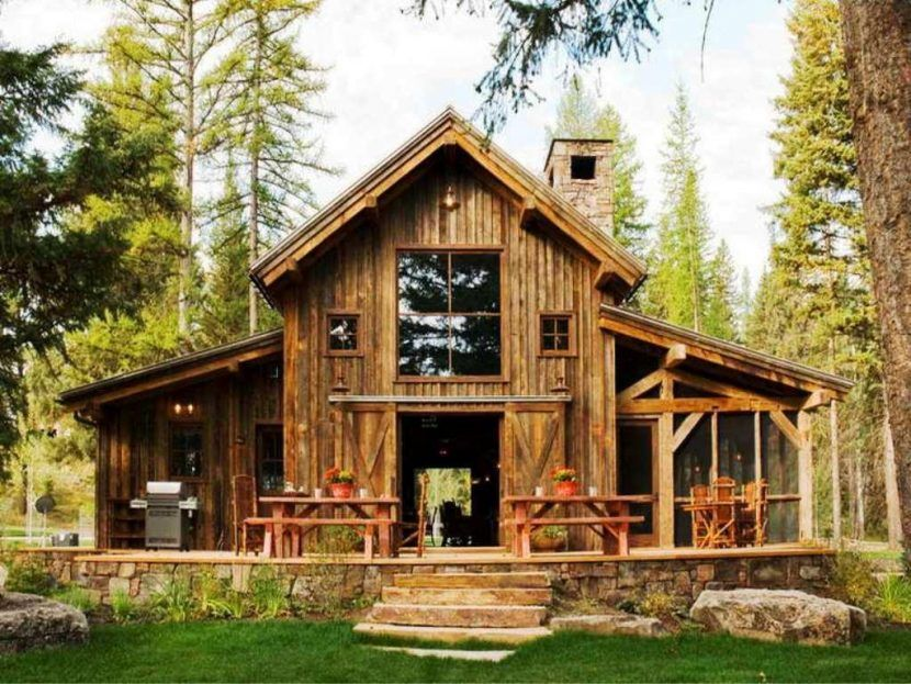 Mountain Cottage House Plans Small Vacation Home Luxury Soiaya Homey Idea Modern Cabin Rustic For Simple Loo Barn House Design Barn House Plans Pole Barn Homes