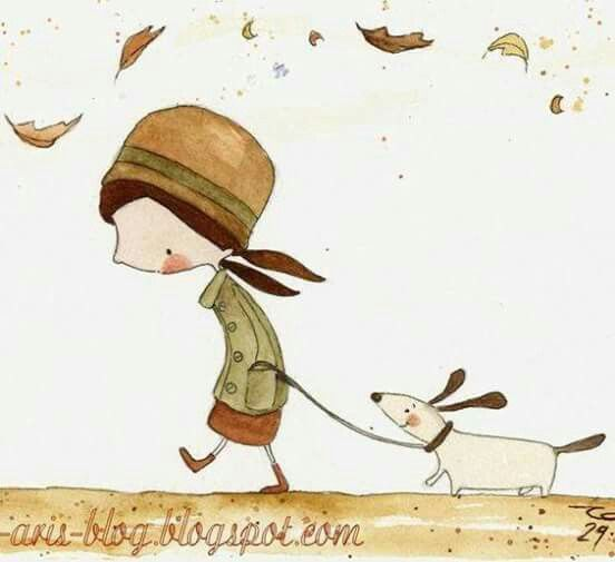 🍂Girl and her dog