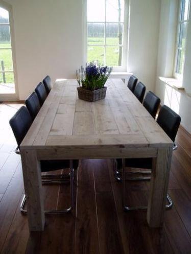 Zo een tafel zelf maken dus woonkamer pinterest for Zelf tafel maken