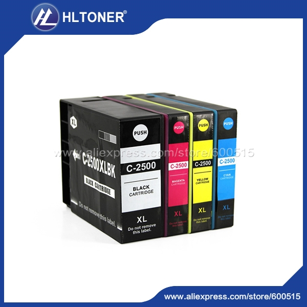23.70$  Watch now - http://ali40t.shopchina.info/go.php?t=32703469413 - pigment ink 4pcs/set Compatible Canon ink cartridge PGI-2500XL PGI-2500 for MAXIFY IB4050 MB5050 MB5350     Full ink  #bestbuy