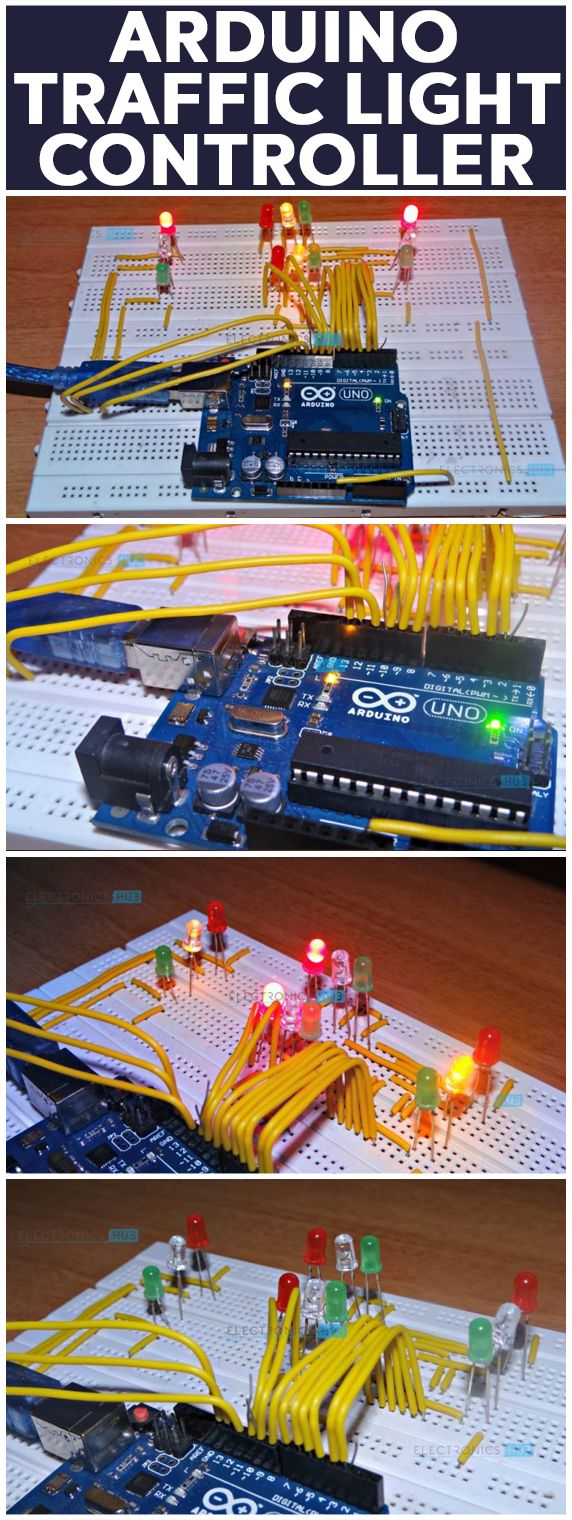 Arduino Traffic Light Controller Biblioteca Pinterest Cool Projects Electronics And Microcontrollers