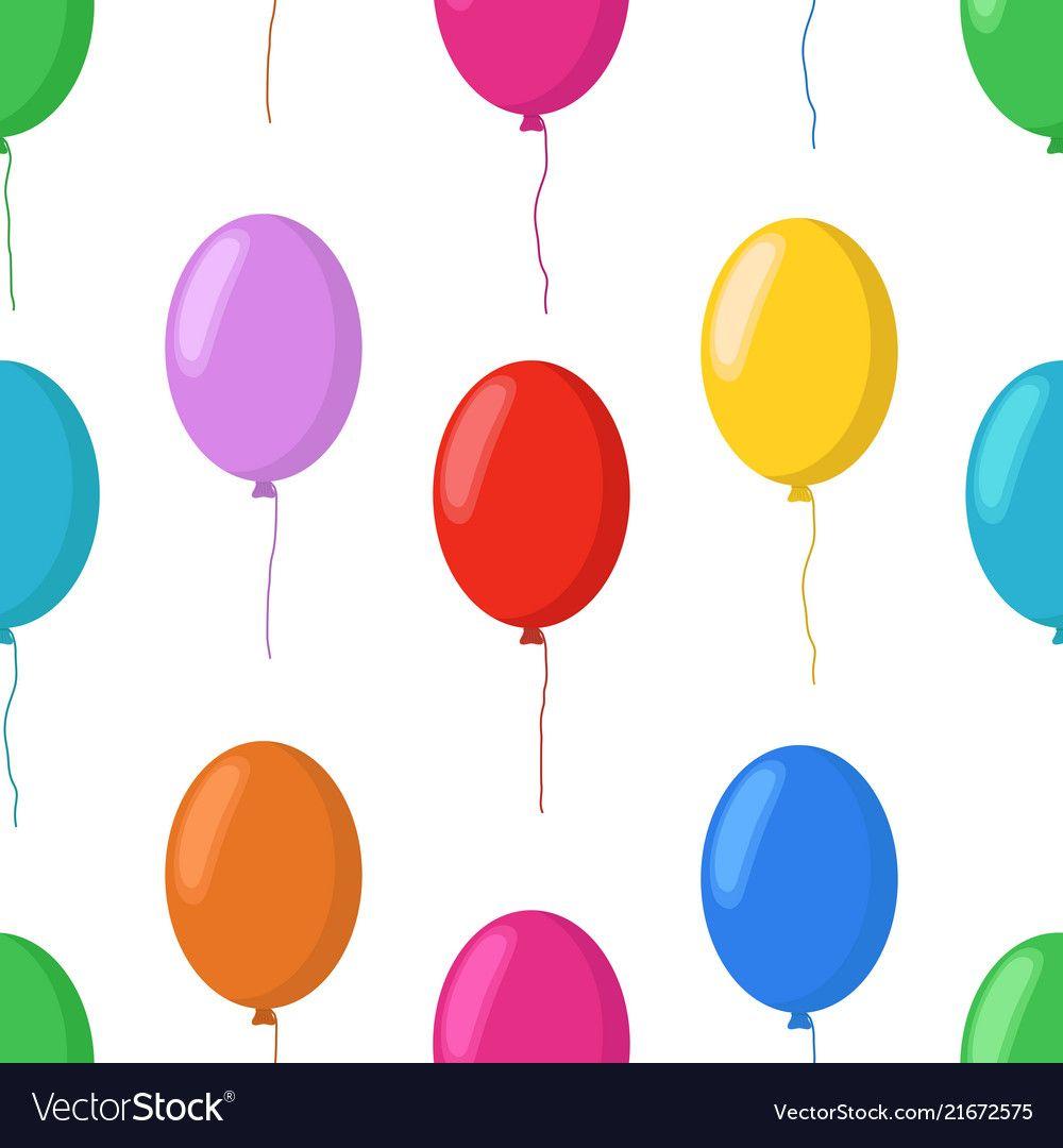 Cartoon Balloons Seamless Pattern Party Royalty Free Vector Seamless Patterns Balloons Vector Free