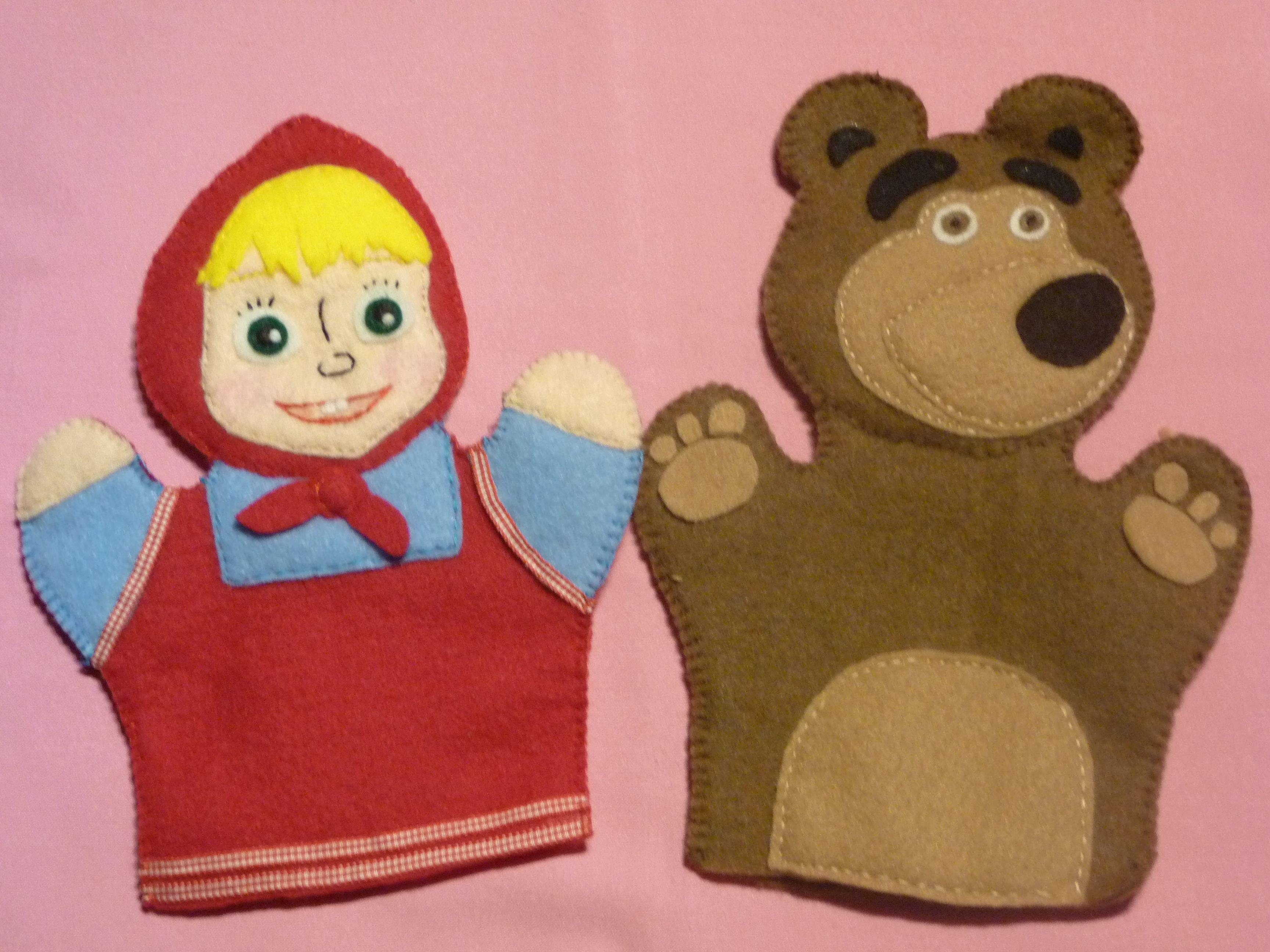 Maya y el oso titeres de mano titeres pinterest - Como hacer marionetas de mano ...