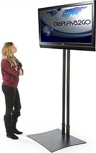 """TV Stand With Rotating Bracket Fits Monitors 40""""40"""" Black Home Interesting Exhibition Tv Display Stands"""